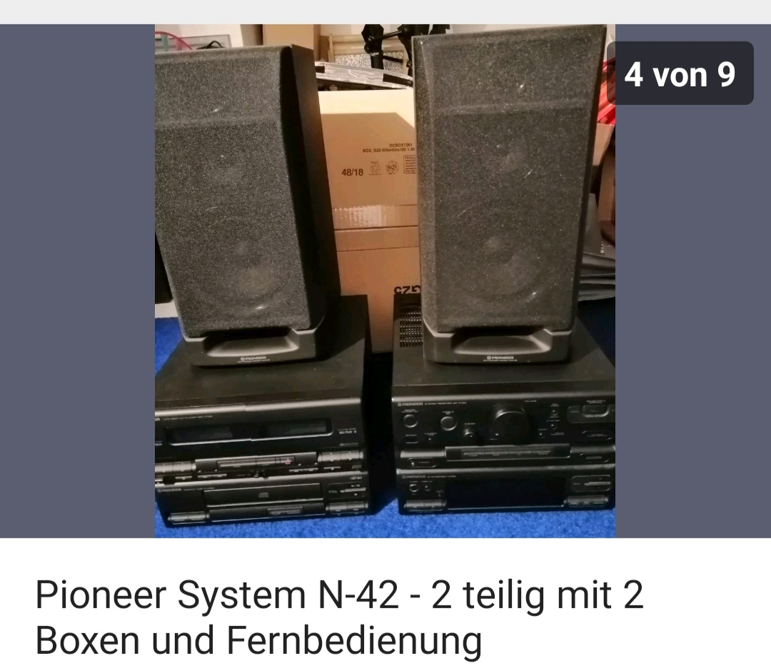 Compact Stereoanlage mit 2 Boxen