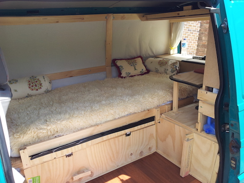 vom transporter zum romantischen budget campingmobil. Black Bedroom Furniture Sets. Home Design Ideas