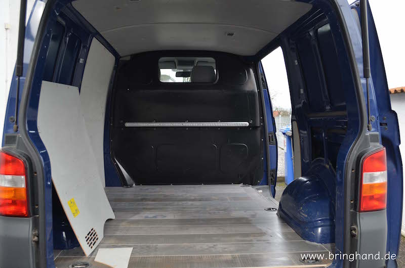 teil 1 wir verwandeln einen vw t5 transporter in ein. Black Bedroom Furniture Sets. Home Design Ideas